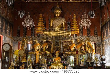 The buddha a image wat in thailand