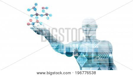 Medical DNA Science Research for a Business 3D Illustration Render