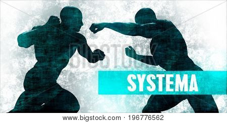 Systema Martial Arts Self Defence Training Concept 3D Illustration Render