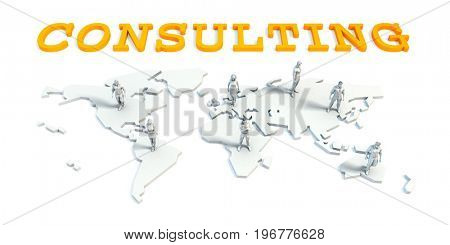 Consulting Concept with a Global Business Team 3D Illustration Render