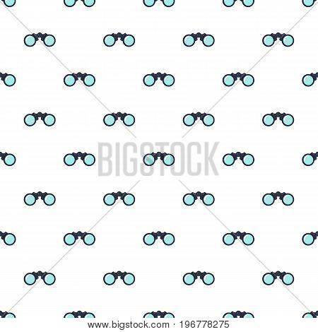Binoculars pattern seamless repeat in cartoon style vector illustration