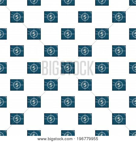 Countdown to the beginning of the movie pattern seamless repeat in cartoon style vector illustration