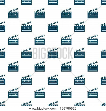 Clapboard, pattern seamless repeat in cartoon style vector illustration