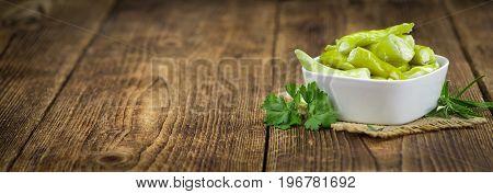 Stuffed Green Chilis (selective Focus).