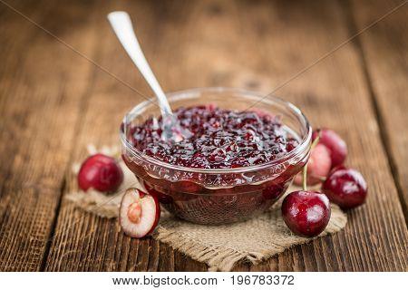 Cherry Jam Selective Focus
