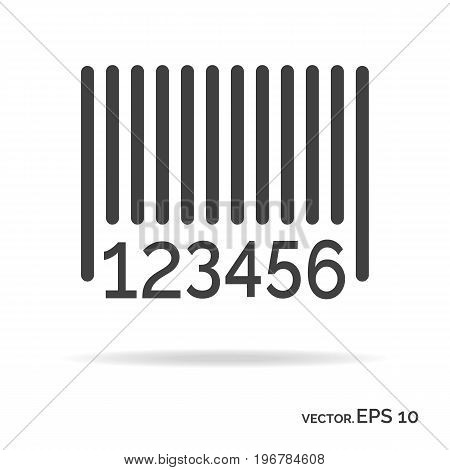 Barcode outline icon black color isolated on white background