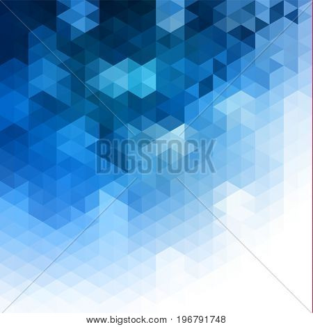 Abstract blue background with triangular pattern -  raster version