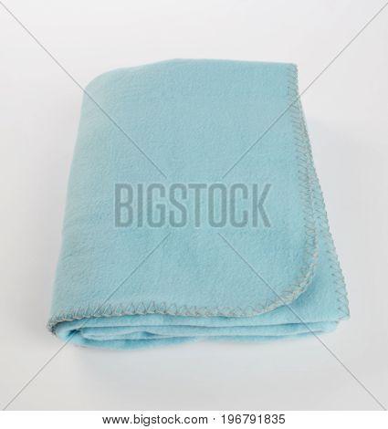 Blanket Or Soft Warm Blanket On Background.