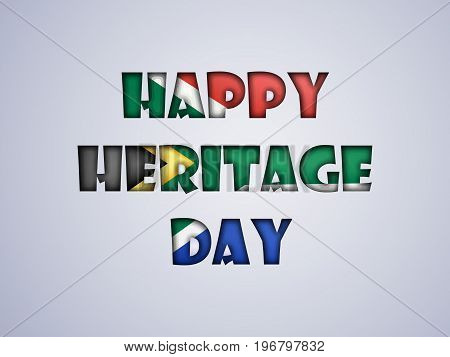 illustration of Happy Heritage Day text on the occasion of Heritage Day
