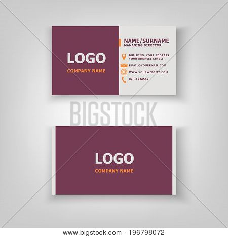 Modern business card template design, stock vector