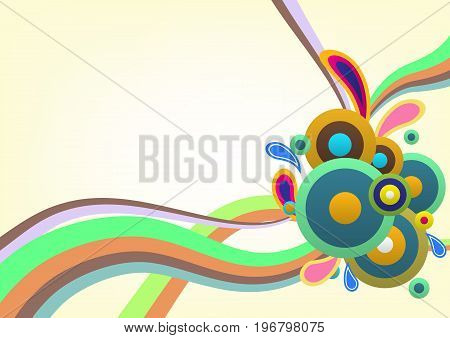 Abstract colorful decorative template background, stock vector
