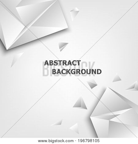 Triangle polygon design abstract background, stock vector