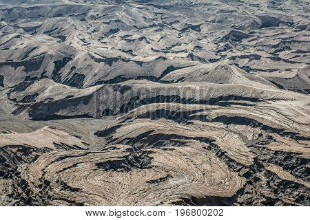 Layer Volcanic Ash As Sand Ground Of Mount Bromo Volcano (gunung Bromo) In Bromo Tengger Semeru Nati
