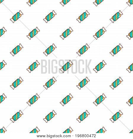 Blue striped candy pattern seamless repeat in cartoon style vector illustration