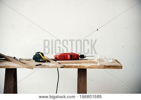 Carpenter tools craft lumber wood