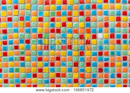 Mosaic Tiles Of Colorful Abstract For Background