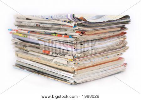 Pile Of Newspaper