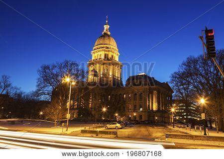 Springfield Illinois - State Capitol Building. Springfield Illinois USA.