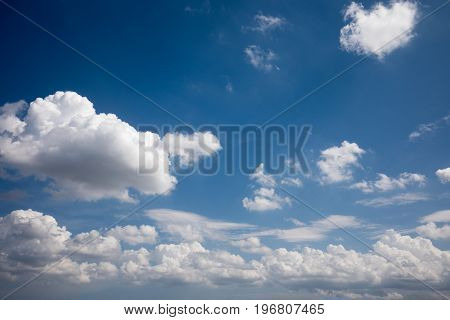 Sky clouds, sky with clouds and sun, toned, blue Sky, white clouds