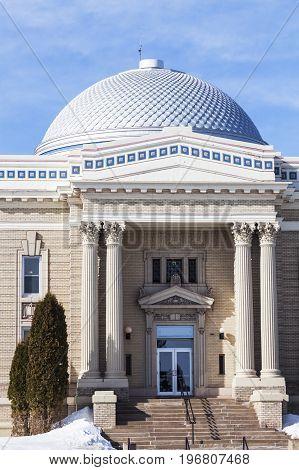 Lake County Minnesota courthouse. Two Harbors Minnesota USA.