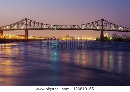 Jacques Cartier Bridge in Montreal. Montreal Quebed Canada.