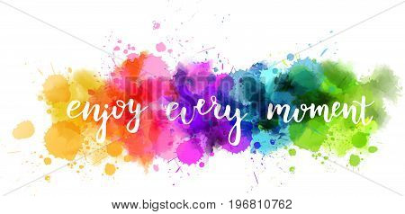 Watercolor imitation splash blot with inspirational quote