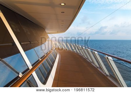 Sea view from cruise ship sailing