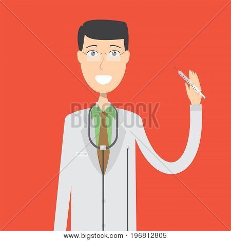 Doctor Character Male | set of vector character illustration use for human, profession, business, marketing and much more.The set can be used for several purposes like: websites, print templates, presentation templates, and promotional materials.