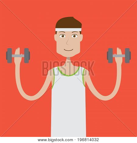 Fitnesman Character | set of vector character illustration use for human, profession, business, marketing and much more.The set can be used for several purposes like: websites, print templates, presentation templates, and promotional materials.