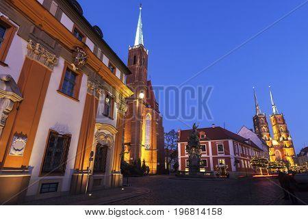 Wroclaw Collegiate Church. Wroclaw Lower Silesian Poland.