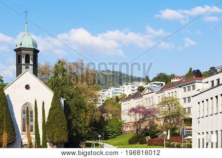 Spitalskirche in Baden Baden Baden-Baden Baden-Wurttemberg Germany.