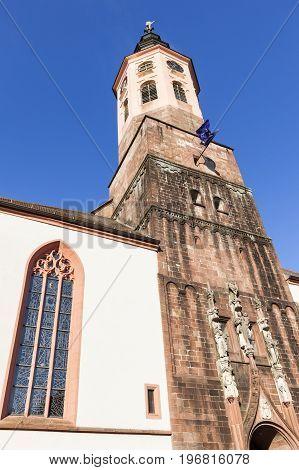 Stiftskirche in Baden Baden. Baden-Baden Baden-Wurttemberg Germany.