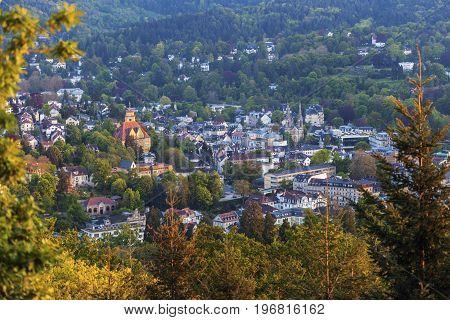 Panorama of Baden Baden. Baden-Baden Baden-Wurttemberg Germany.