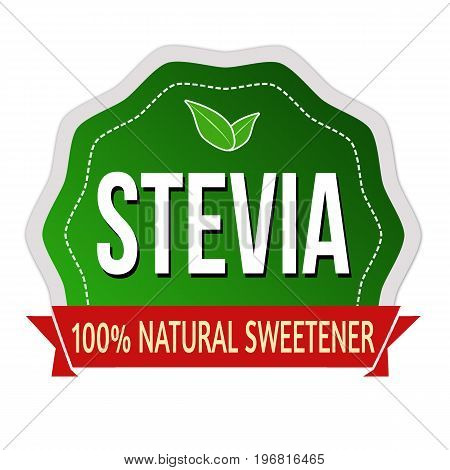 Stevia Label Or Sticker