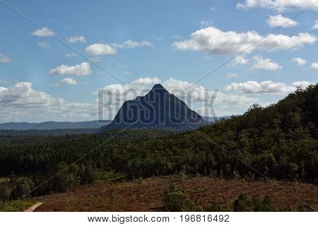 Volcanic Plug Beerwah In Glass House Mountains