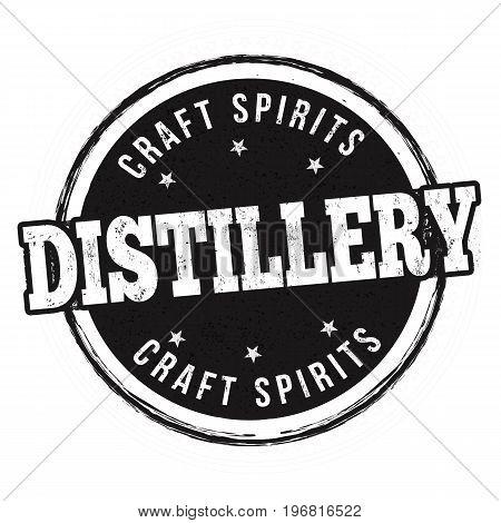Distillery Sign Or Stamp