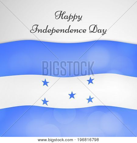 illustration Honduras flag background with Happy Independence day text on the occasion of Honduras Independence Day