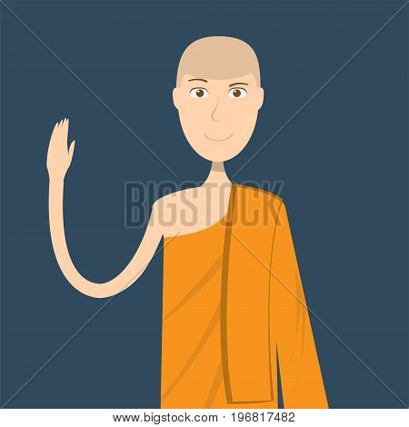 Lecturer Monk Character | set of vector character illustration use for human, profession, business, marketing and much more.The set can be used for several purposes like: websites, print templates, presentation templates, and promotional materials.