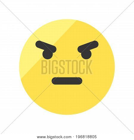 Angry smiley vector icon. Isolated emoji smiley.