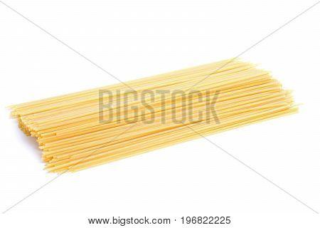 Raw spaghetti isolated on white background, Raw spaghetti