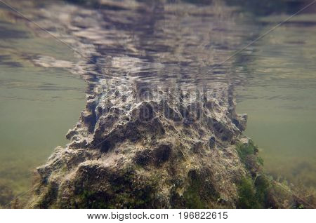 Sharp Underwater Rock, Color Image, Close Up Image, Underwater Shoot
