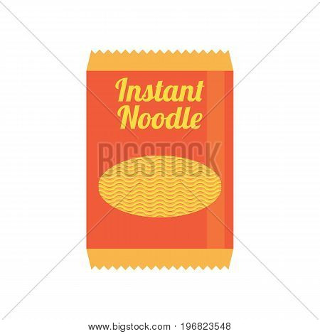 instant noodles in sachet packaging. vector illustration
