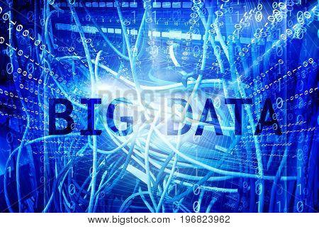 Big Data Center Concept. Information database server communication business web technology
