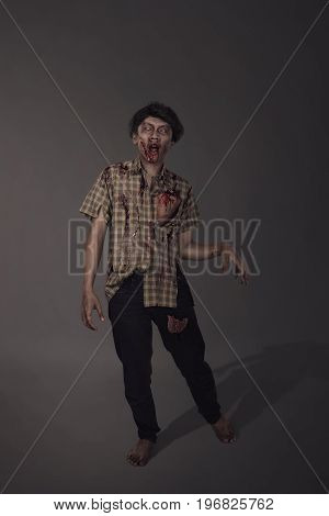 Horrible Bloody Asian Zombie Man