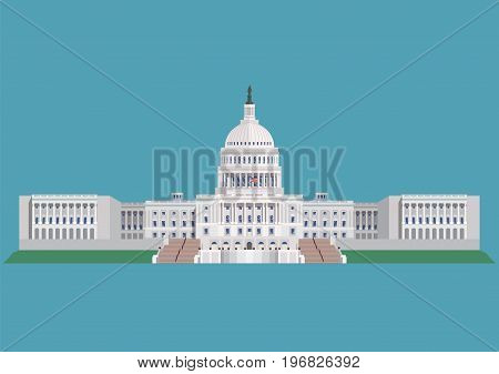 Capitol building United States of America. vector illustration