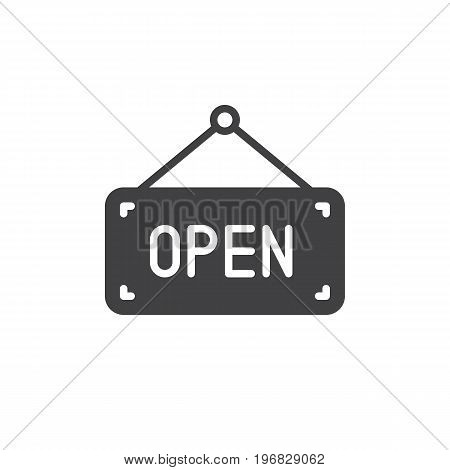 Open icon vector, filled flat sign, solid pictogram isolated on white. Symbol, logo illustration. Pixel perfect vector graphics