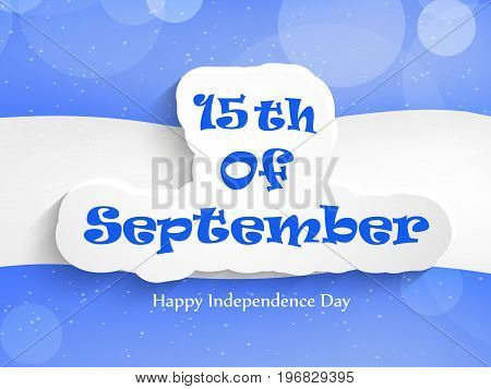 illustration of 15th of September text on Honduras flag background with Happy Independence day text on the occasion of Honduras Independence Day
