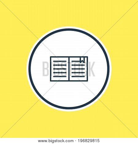 Beautiful Science Element Also Can Be Used As Textbook   Element.  Vector Illustration Of Book Outline.