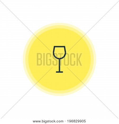 Beautiful Cooking Element Also Can Be Used As Wine Element.  Vector Illustration Of Wineglass Icon.