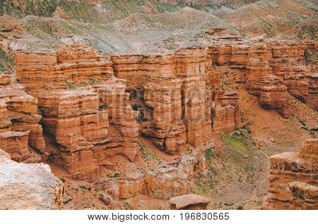 Picturesque View To The Charyn Canyon- National Natural Park In Almaty Region